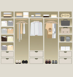 flat design walk in closet vector image