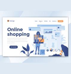 flat modern design wesite template - online vector image