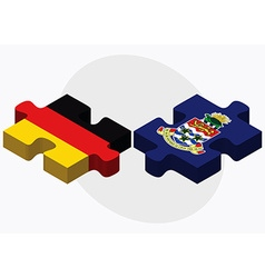 Germany and Cayman Islands vector image