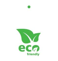 Green Eco label tag vector image vector image