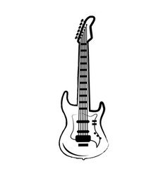 Guitar big icon on on white vector