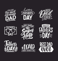 Happy fathers day lettering calligraphic vector