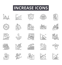 increase line icons for web and mobile design vector image