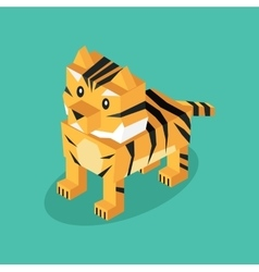Isometric 3d Tiger Animal Isolated vector image
