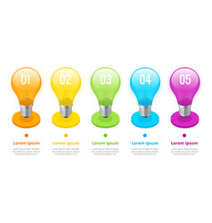 isometric lightbulb infographics ideas concept vector image