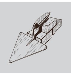 It is monochrome of trowel vector image