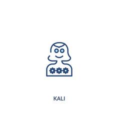Kali concept 2 colored icon simple line element vector