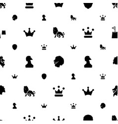 king icons pattern seamless white background vector image