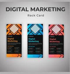 Latest marketing agency rack card dl flyer vector