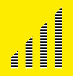 Levels icon isolated on yellow background vector