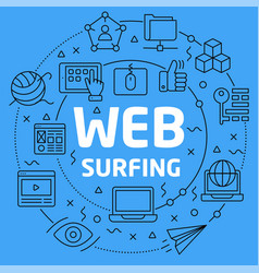 linear web surfing vector image