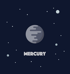 Mercury on space background vector