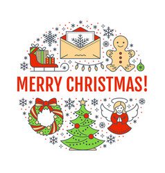 merry christmas new year banner vector image