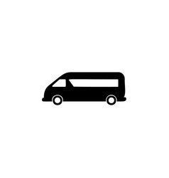 minibus icon element of car type icon premium vector image