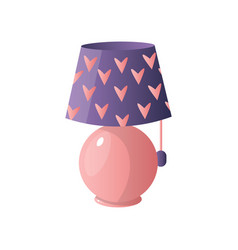 modern table lamp simple concise form of a vector image