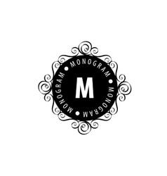 monogram in frame vector image vector image