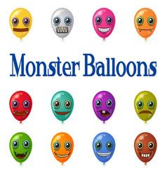 monster balloons set vector image