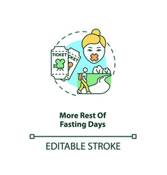 More rest fasting days concept icon vector