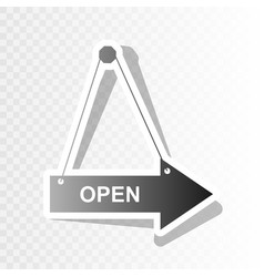 open sign new year blackish vector image