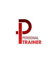 personal trainer sign vector image