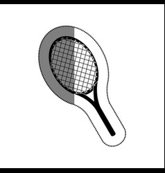 racket tennis isolated icon vector image