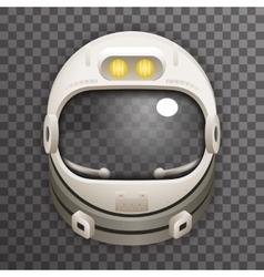 Realistic Helmet 3d Cosmonaut Astronaut Spaceman vector image