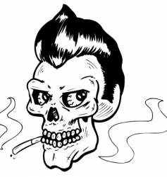 Rock n' Roll skull vector image
