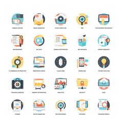 Seo and development flat icon 5 vector