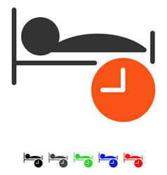 Sleep time flat icon vector