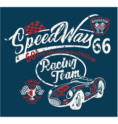 speedway kids racing team vector image