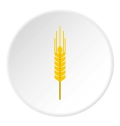 Spikelet of wheat icon flat style vector image