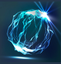 splash of glowing particles futuristic cyber vector image