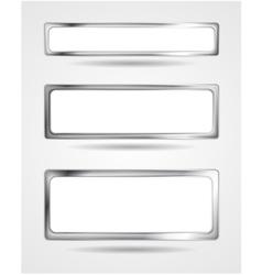 Steel metal banner frame border vector image