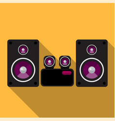 Stereo system flat icon vector