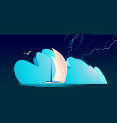 Storm abstraction banner vector
