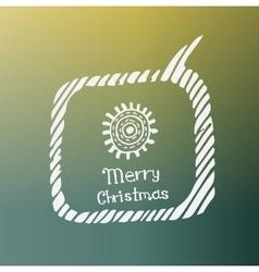 Sun white icon Doodle Christmas vector