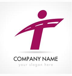T company logo concept vector