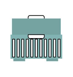 Tool box isolated icon vector