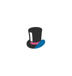 top hat isolated icon top hat vector image