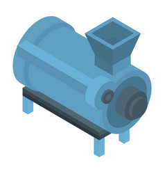 Tractor mill cistern icon isometric style vector