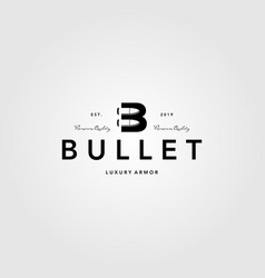 Vintage bullet logo letter b creative vector
