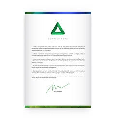 Visual identity with letter logo elements bright vector