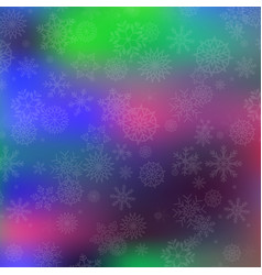 winter magical festive template with silver vector image