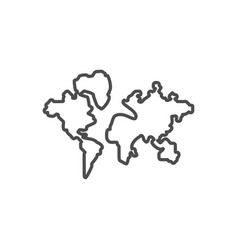 world map related thin line icon vector image