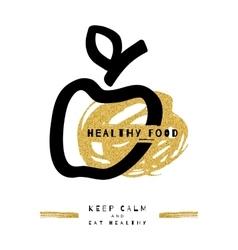 Artistic apple symbol Healthy food concept vector image vector image
