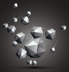 Geometric monochrome polygonal structure modern vector image