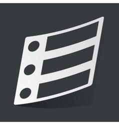Monochrome dotted list sticker vector
