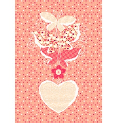Valentine Day background with butterflies vector image vector image