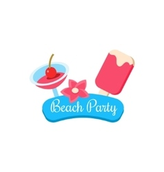 Beach Party Summer Vacation vector image vector image