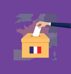 france election vote concept with vector image